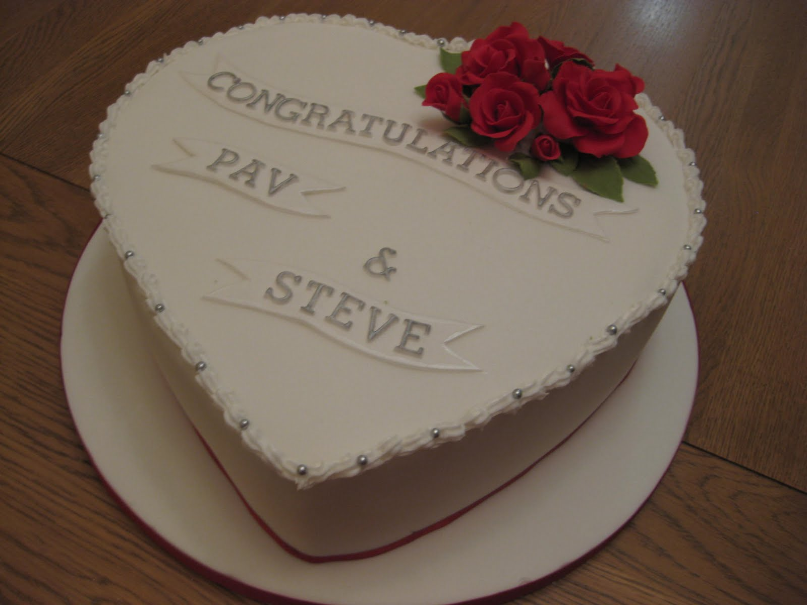 Heart Shaped Engagement Cake | Boutique Cake Shop