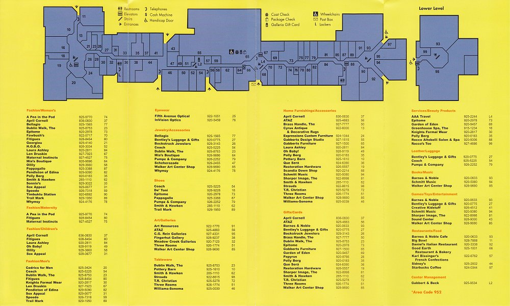 Furniture Stores Edina Mn The Galleria Mallmanac ca. 2000. View the full PDF version here .