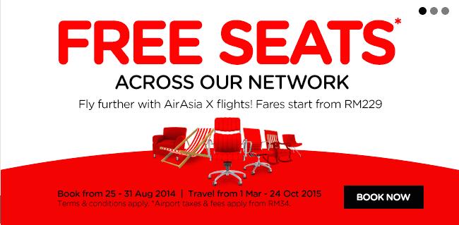 My AirAsia Free Seats Promotion
