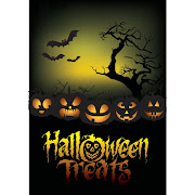 28. Free vector Halloween Treats template design illustration
