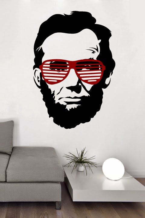 Abraham Lincoln in sunglasses wall art