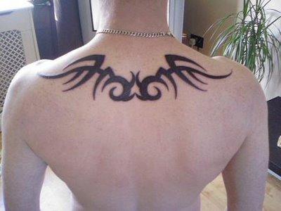 Upper back tribal Tattoo for men