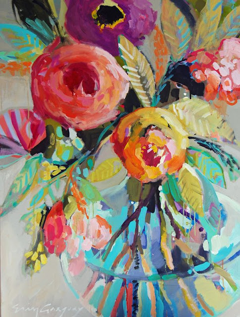Twirling clare erin fitzhugh gregory for Painting large flowers in acrylic