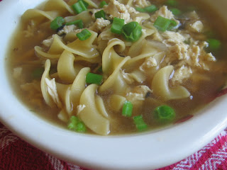 Vegetarian Chicken Noodle Soup with Wheat Protein