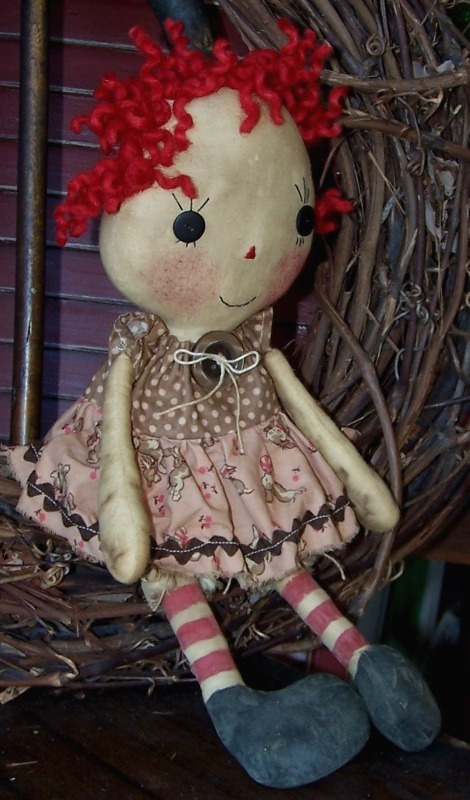 raggedy ann doll. handmade Raggedy Ann doll