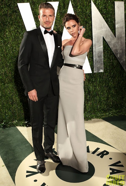 Look David Beckhan Oscar 2012