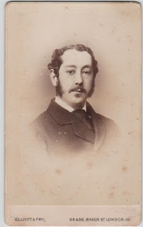 Carte de visite of a gentleman, by Elliott & Fry, London