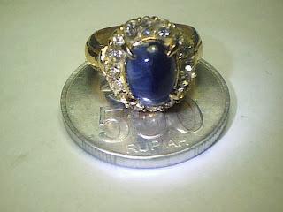 Batu Cincin Blue Sapphire Birma