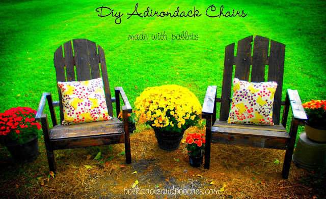 Adirondack chairs made from pallet wood