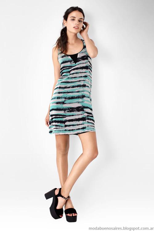 Moda primavera verano 2014 vestidos cortos