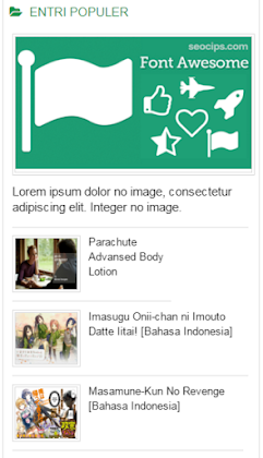 Popular Post For Blogger (Style 10)