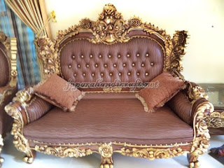 2 seater Sofa Tamu Mewah Royal Calista