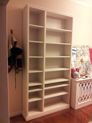 My Decor Education_ikea billy bookcase hack with wood trim finished