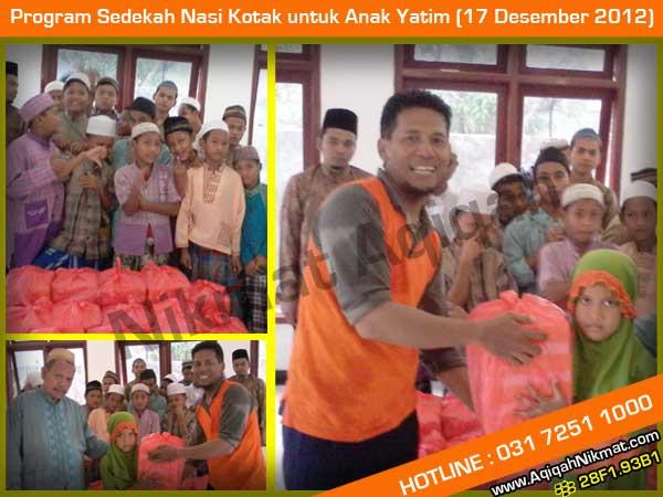 Program Sedekah Nasi Kotak untuk Anak Yatim