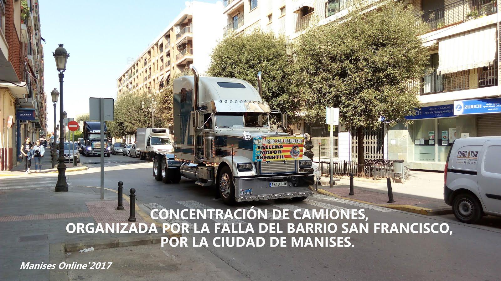 12.03.17 CONCENTRACIÓN Y DESFILE DE CAMIONES POR LA CIUDAD DE MANISES