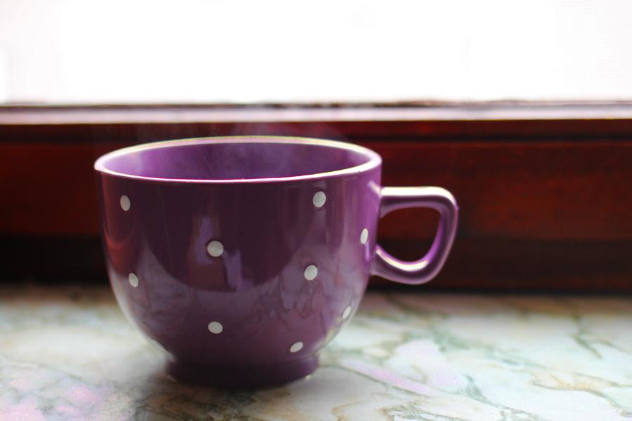 herbst tee tasse