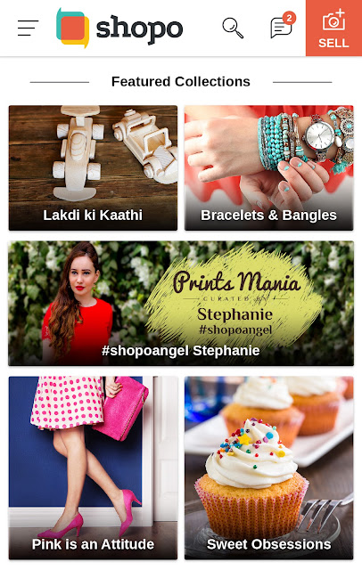 Shopo App by Snapdeal, Shopoangel, Prints Mania, Stephanie Timmins curated collection