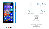 Spesifikasi Smartphone Microsoft Lumia 540