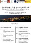 I Jornadas sobre Contaminación Lumínica en el Parque Nacional de la Sierra de Guadarrama