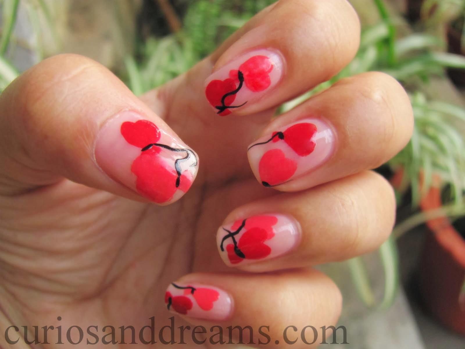 Valentine's day nail art, Valentine's day manicure, Heart manicure, heart nail art, valentine's day NOTD