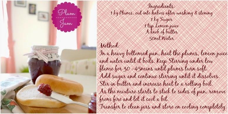 plum jam recipe card