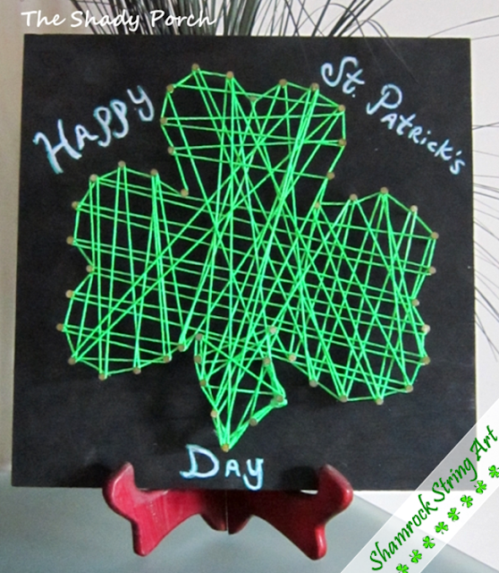 Shamrock String Art by The Shady Porch