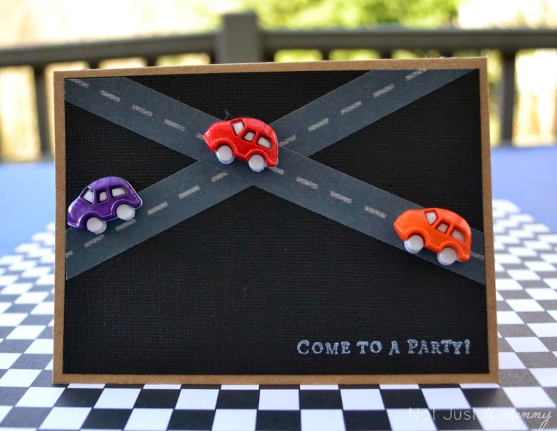 Hot Wheels party invite