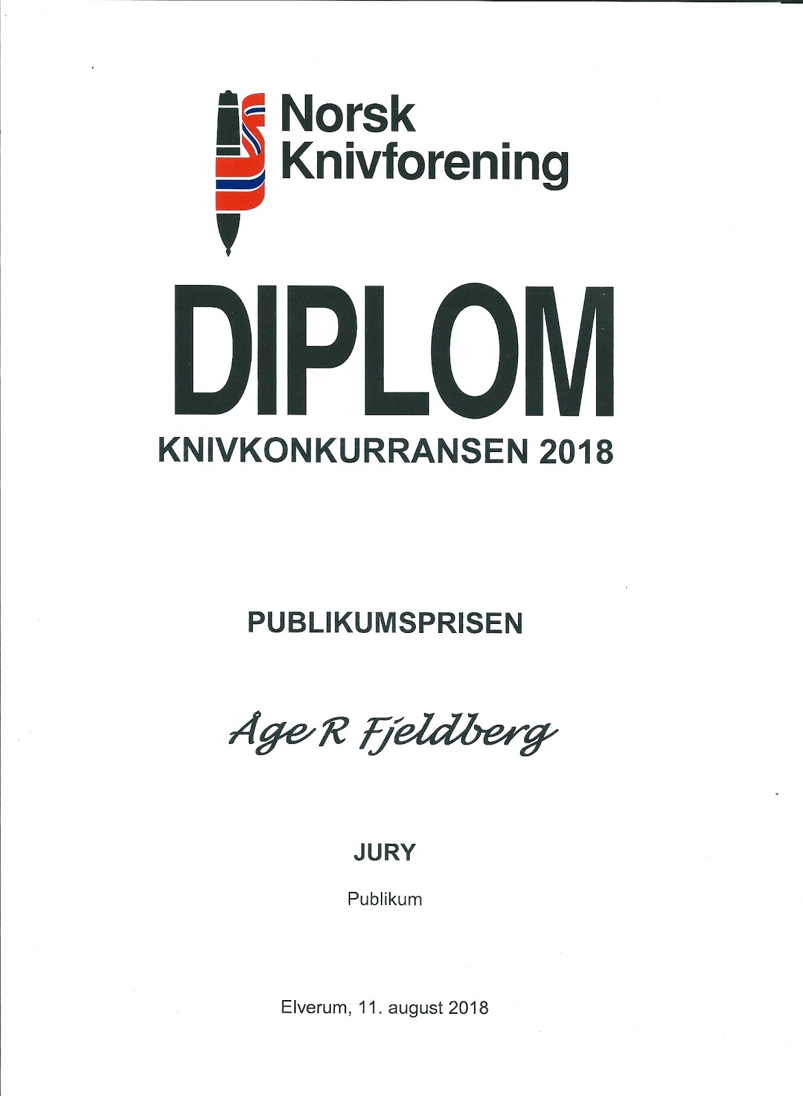 Elverum 2018 Norsk Knivforening