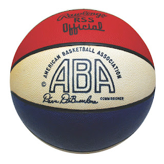 basketball, ABA, red white blue ball