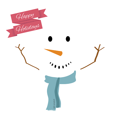 Happy holidays! Snowman is happy!