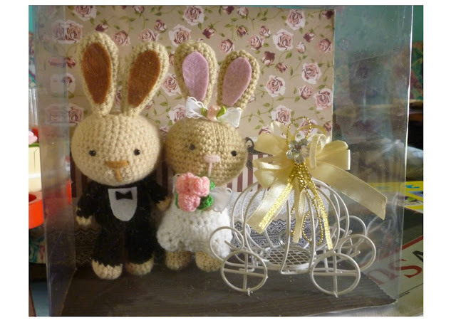 Amigurumi crochet cute beautiful wedding bunny gift set idea patterns