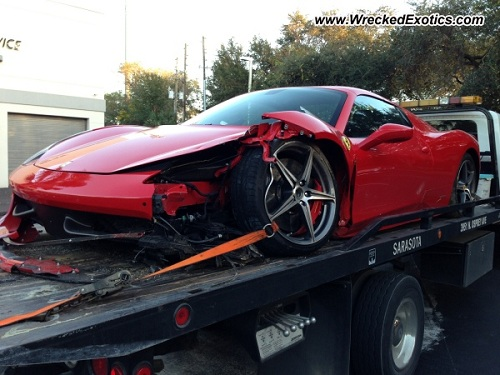 Ferrari 458 Spider crashed in Florida