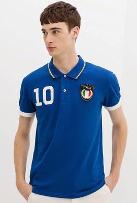 camisa polo bandeira Itália da Zara para Copa do Mundo 2014