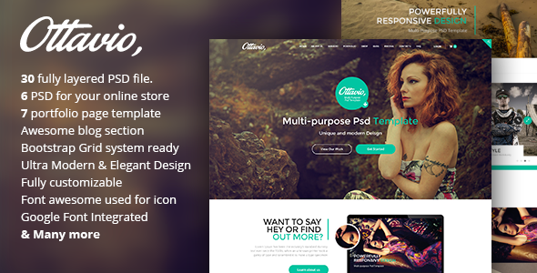 Ottavio - Creative Multipurpose PSD Template