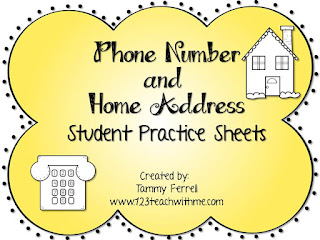 Address And Phone Number Worksheet