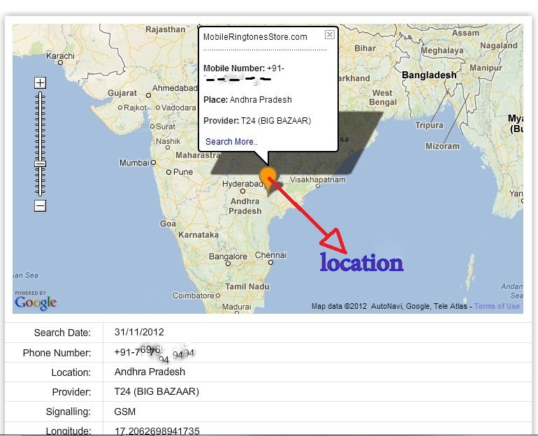 Locate a cell phone by phone number for free msg