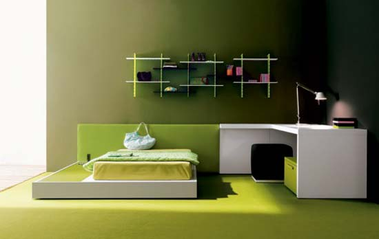 Green Teen Rooms