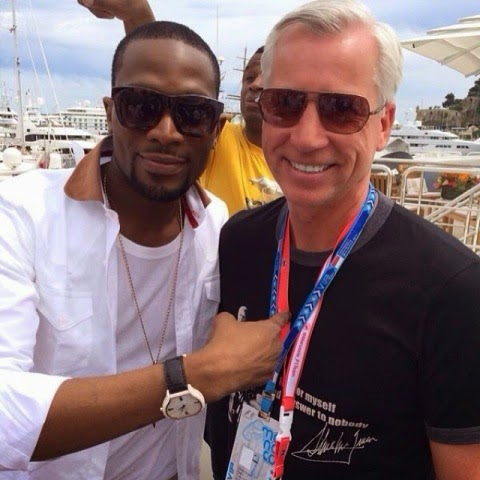 D'banj hangs out with the big boys in Monaco