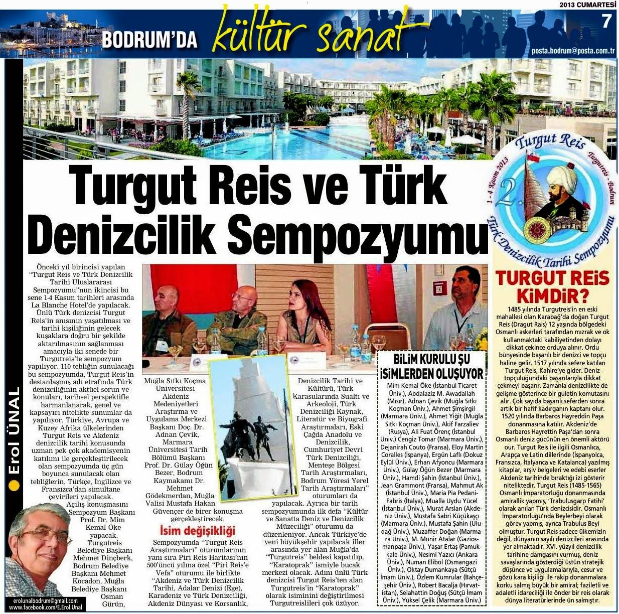 15  TURGUT REİS SEMPOZYUM