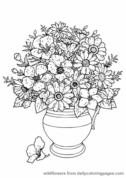 Free Floral Adult Coloring Page