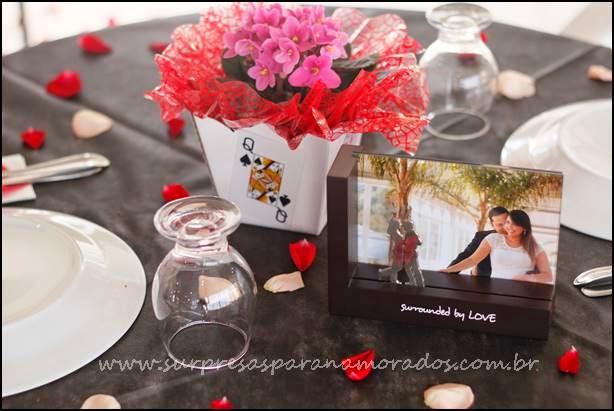 mesa festa de noivado