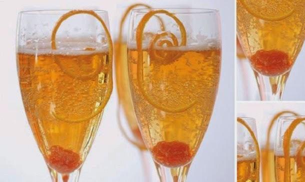 Receita de cocktail de champanhe com laranja