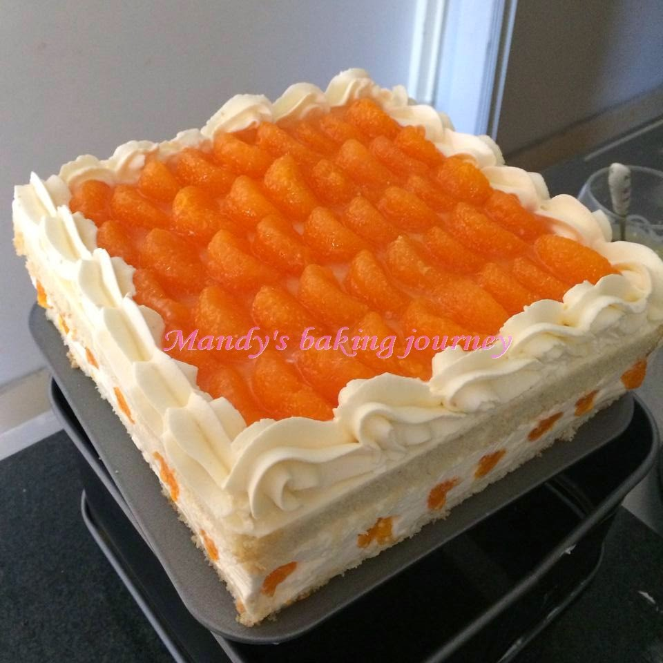 Mandy's baking journey: Mandarin Orange cream cheese cake