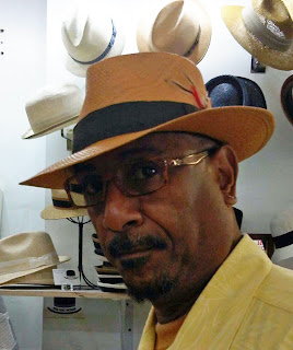 Panama Hat on Wayne D. Hopper, distinguished jazz musician at The Hat House, hat shop in NY