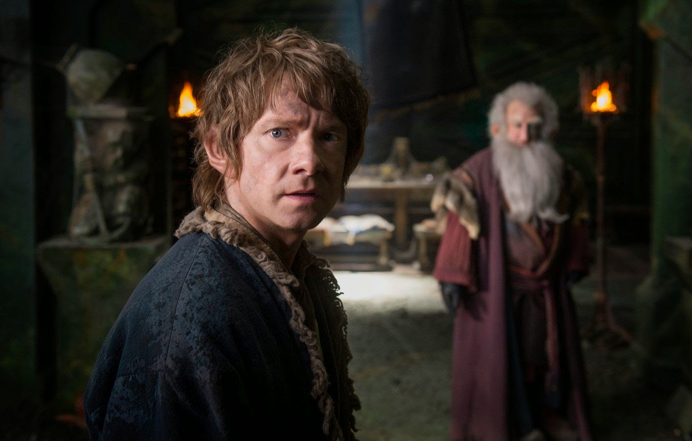 Martin Freeman and Ken Stott in The Hobbit: The Battle of the Five Armies