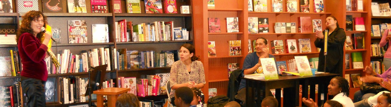 Lisa B (Lisa Bernstein) at bookstore event