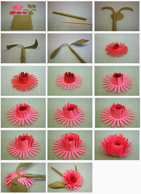 Bits of paper 3d calendula camellia and sweet pea paper flowers i cut my three smallest flowers in a darker shade mightylinksfo