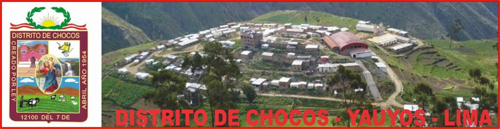 DISTRITO DE CHOCOS