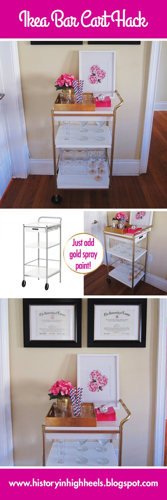 Ikea Bar Cart Hack Pinterest