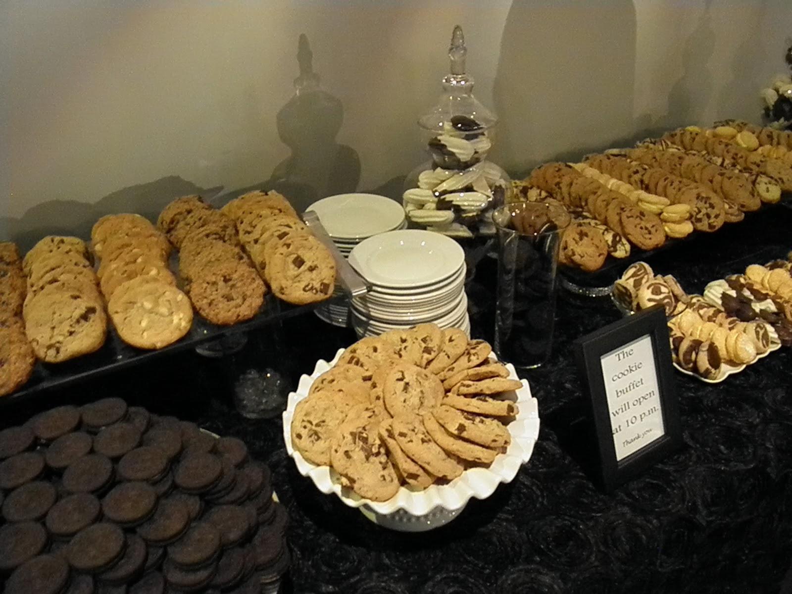 lollipops paper milk cookies wedding buffet